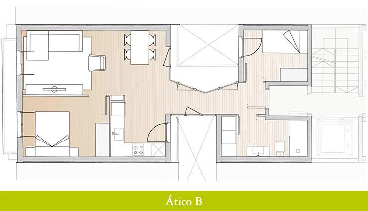 Áticos en venta obra nueva: Inicio de obras - Aragó 12 - Ático B - Casaático