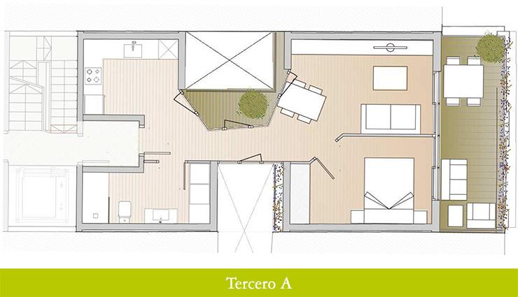 Áticos en venta obra nueva: Inicio de obras - Aragó 12 - Tercero A - Casaático