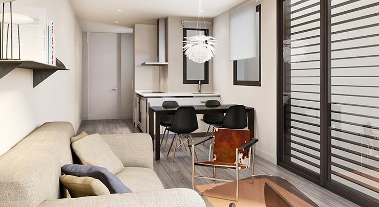 Áticos y pisos en venta obra nueva Barcelona - Còrsega 685. Cocina - CASAÁTICO