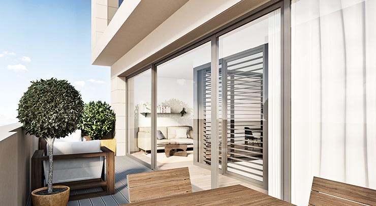Áticos y pisos en venta obra nueva Barcelona - Còrsega 685. Terraza - CASAÁTICO