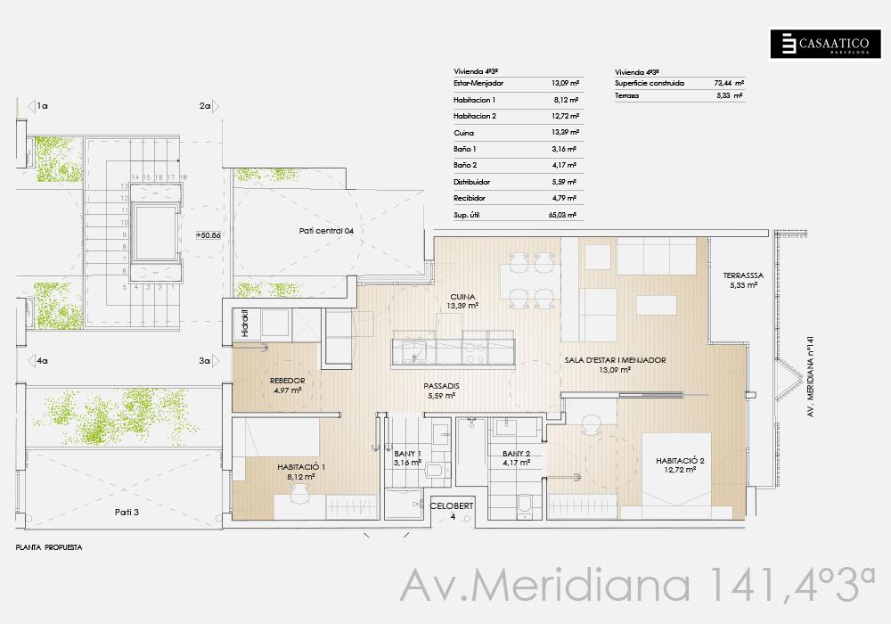 Meridiana - Plano 4º 3ª - CASAÁTICO