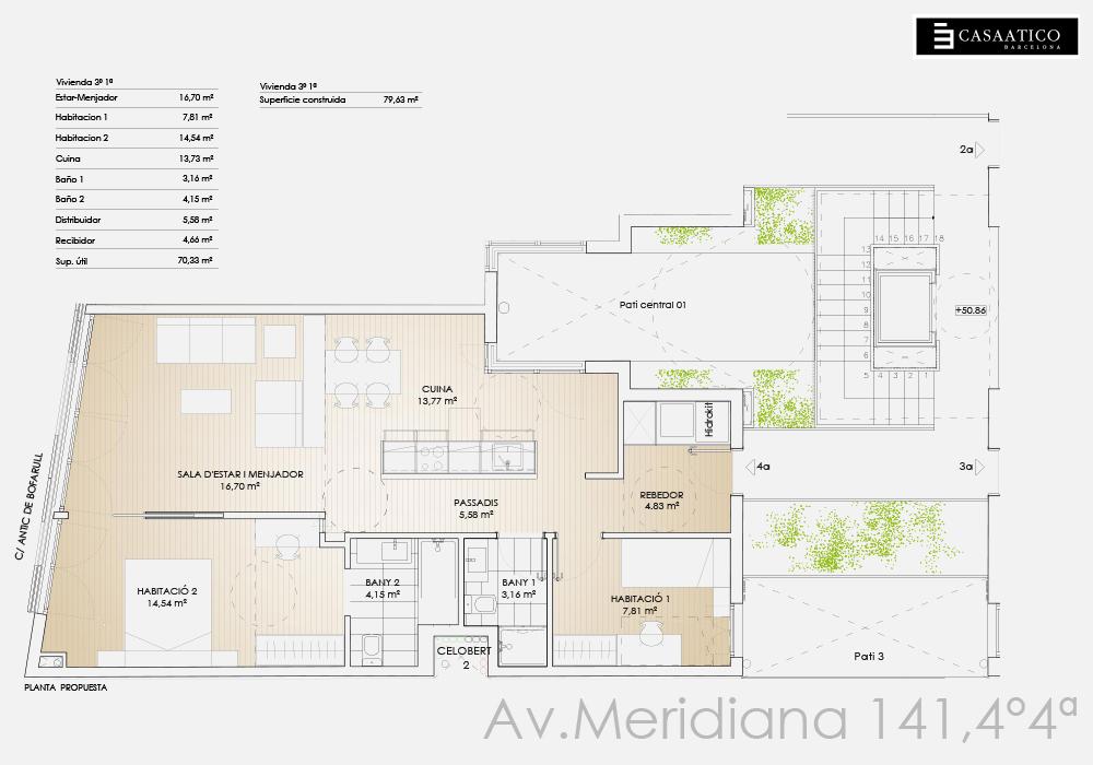 Meridiana - Plano 4º 4ª - CASAÁTICO